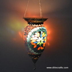Glass Metal Hanging Lantern