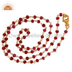Garnet Gemstone Beads Necklace