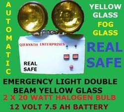 Double Beam Emergency Light with Yellow Glass