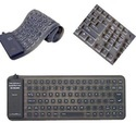 Adesso Flexible Mini Waterproof Keyboard With USB and PS/2 Adapter, AKB-210