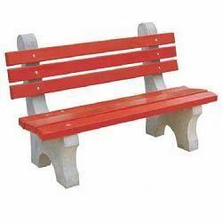 Concrete Garden Furniture Rcc Garden Bench With Arm Rest Manufacturer From Gurgaon