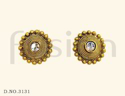 Traditional Stone Stud Earrings