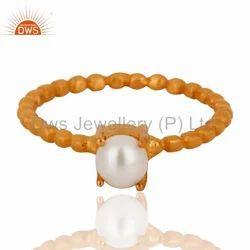 Natural Pearl Handmade Silver Ring