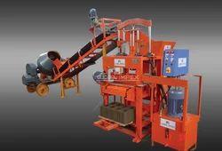 Stationary Type 1000SHD Block Machine with Conveyor