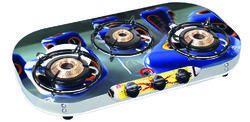 3 Burner Glass Top Gas Stove Pearl Series