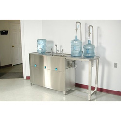 Semi Automatic Jar Washing Filling Machine