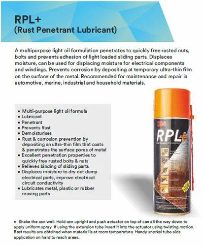 RPL (Rust Penetrant Lubricant)