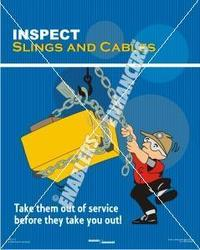Poster on Lifting with Slings and Cables