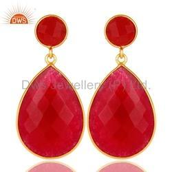 Natural Gemstone 925 Silver Drop Earrings
