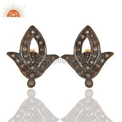 Pave Diamond Studs Earrings Jewelry