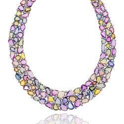 Multi Colored Sapphire Necklace