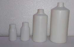 Cylindrical Narrow Mouth HDPE Bottle with Inner Plug