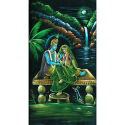 Painting Of Radha Krishna Raslila