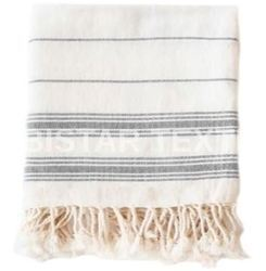 striped tablecloth fringes