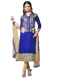 Designer Blue Churidar Suit