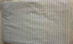 Blue Dots Block Printed Fabric