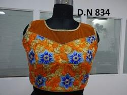 Net Embroidered Multi flower Jaal Work Stitched Blouse