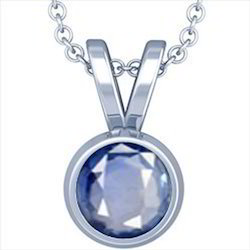 Blue Sapphire Silver Pendant