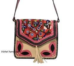 Vintage Embroidery Leather Bag