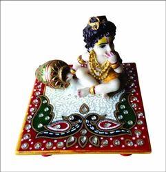 Marble Chowki Laddu Gopal or Bal Krishna Idol