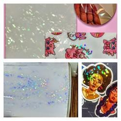 Holographic 3D Lamination Transparent Film