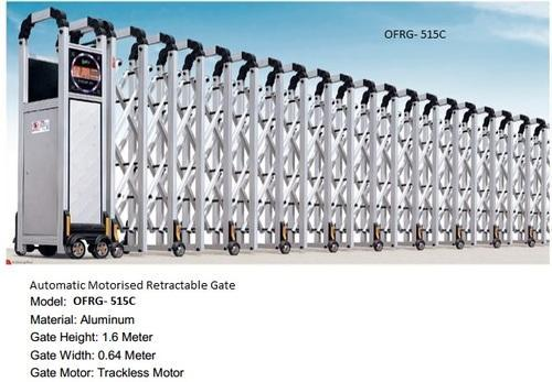 automatic motorised retractable gates automatic motorized retractable gate ofrg340a wholesale supplier from new delhi