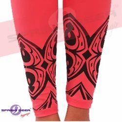 Black Simar Printed Leggings