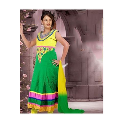 Cotton Fashionable Ladies Embroidered Suit