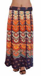 Designer Cotton Wrap Skirt