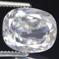 White Zircon Precious Gemstone