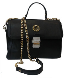 Ladies Leather Bag in Black