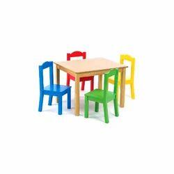 Kids Wooden Table Set