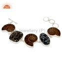 925 Sterling Silver Natural Gemstone Bracelet
