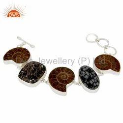 925 Silver Natural Gemstone Bracelet