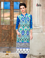 Pure Cotton Embroidery Kurti