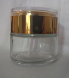 100 Gm Glass Cream Jar For Luxury Creams