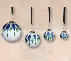 Hand Painted Opal Ornaments