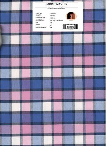 Cotton Yarn Dyed Checks Fabric