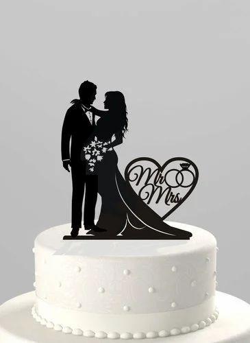 Cake Topper - Silhouette Wedding Cake Topper Wholesaler from Chennai