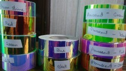 Holographic Colour Changing Sticky Tapes