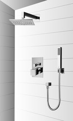 cube two way bath diverter set