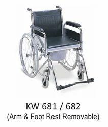 Metal Commode Wheel Chair