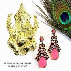 Ruby Victorian Earrings