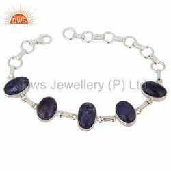Tanzanite Gemstone Silver Bracelets