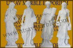 White Marble Decorative European Lady Figures 160cm