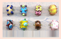 Hand Painted Glass Beads Code : SFB-07