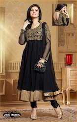 Black Party Wear Anarkali Suit