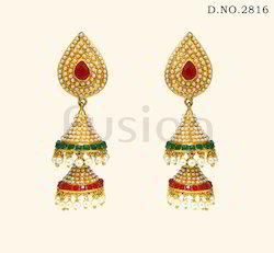 Traditional Antique Designer Pearl Jhumka Earrings