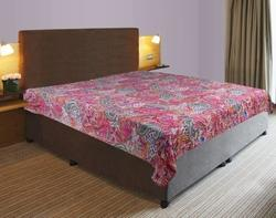 Kantha Paisley Cotton Bed Cover
