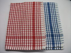 mono check terry towels